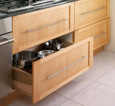 Deep Storage Drawers, Full Extension Glides