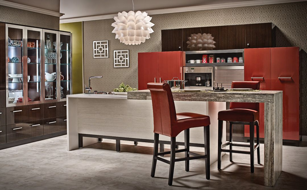 Contemporary Kitchen Cabinets With An Urban Twist Custom Cabinetry