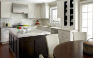 Fully Transitional Kitchen Cabinets