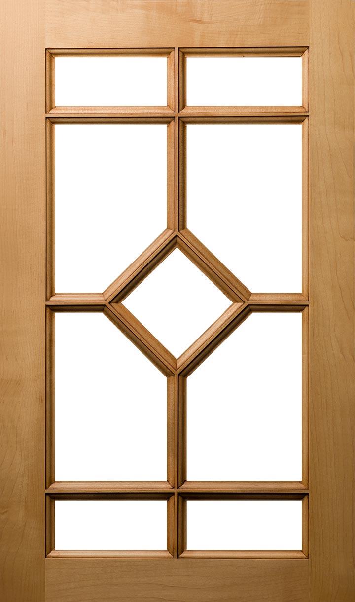 9 Lite Diamond Mullion Plain & Fancy Cabinetry