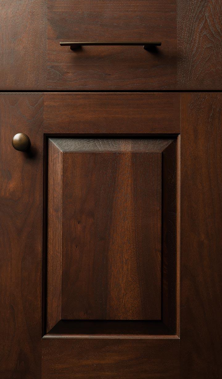 Vintage door in solid walnut