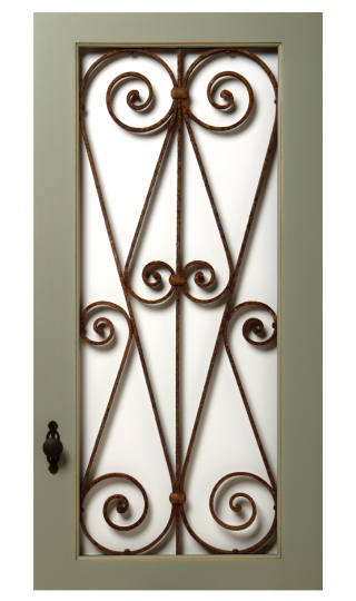 Vintage With Wrought Iron Insert