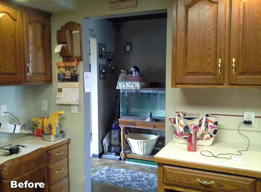 Before Kitchen Storage Area