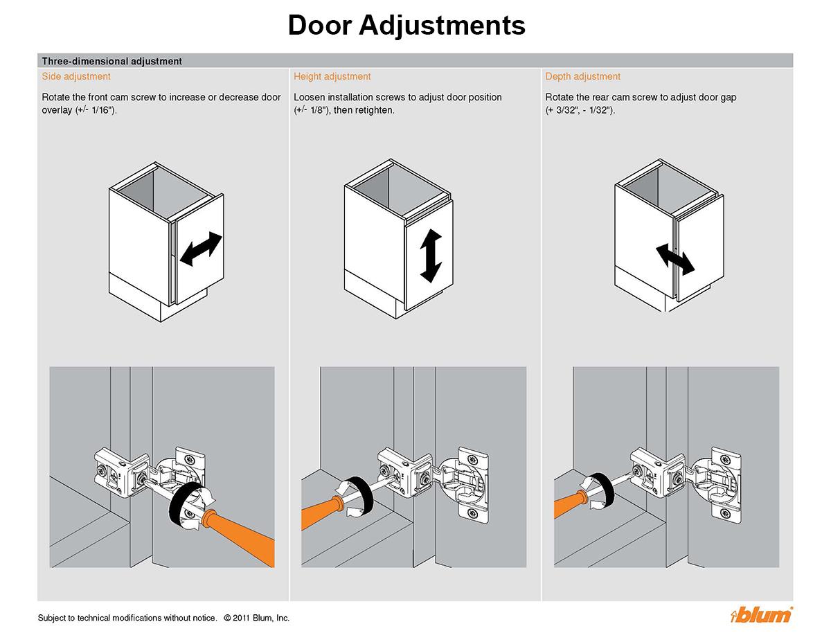 Tutorial Adjusting Cabinet Doors Plain Fancy Cabinetry