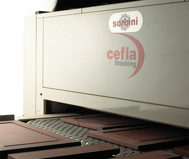 Zoomed in Picture of Cefla Finishing Machine