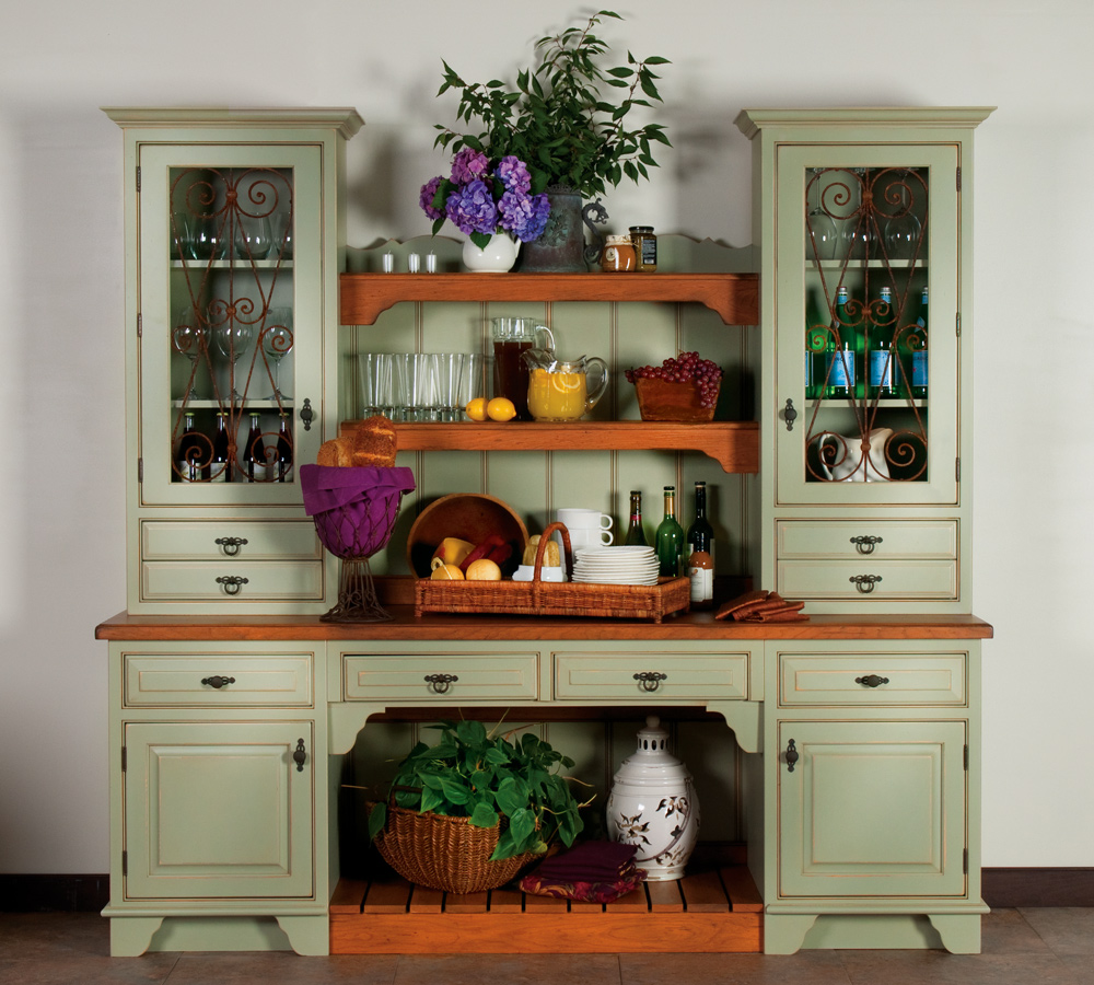 dining room armoire | Room to Reimagine Plain & Fancy Cabinetry