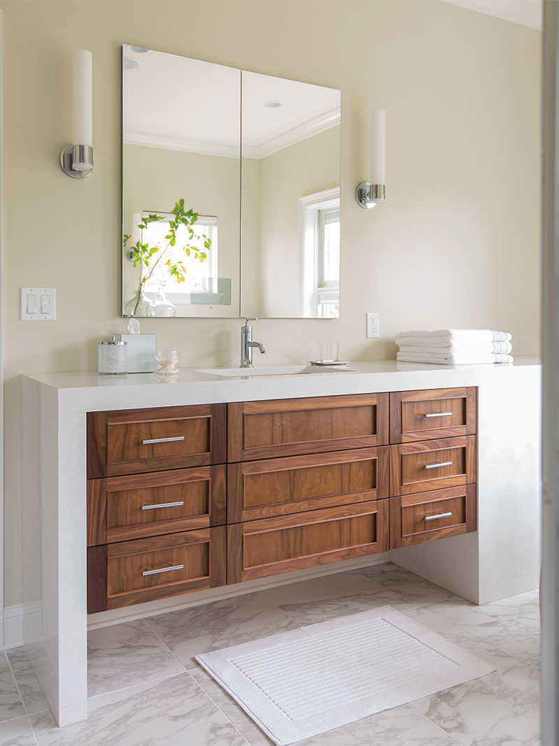 White Bathroom Cabinets with White Paint Surround