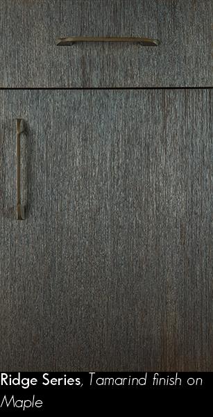 Brown Textured Door with Gold Cabinet Pulls