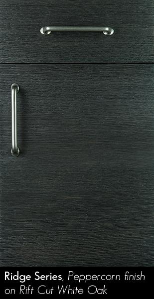 Black Textured Door with Silver Cabinet Pulls