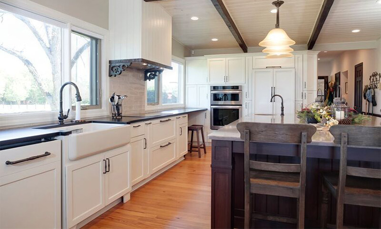 renovated old world farmhouse kitchen remodel