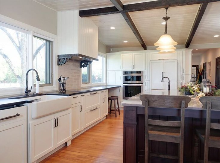 Beau Georgia Farmhouse Kitchen Before And After