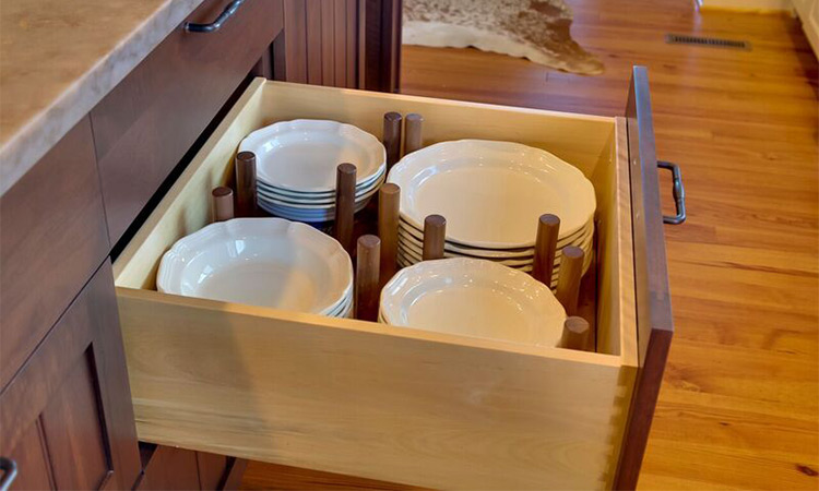 customizable peg storage drawer holders