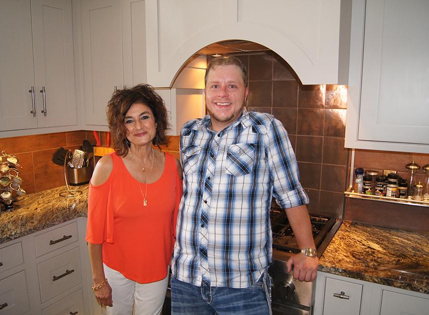 Designer and Homeowner in Kitchen