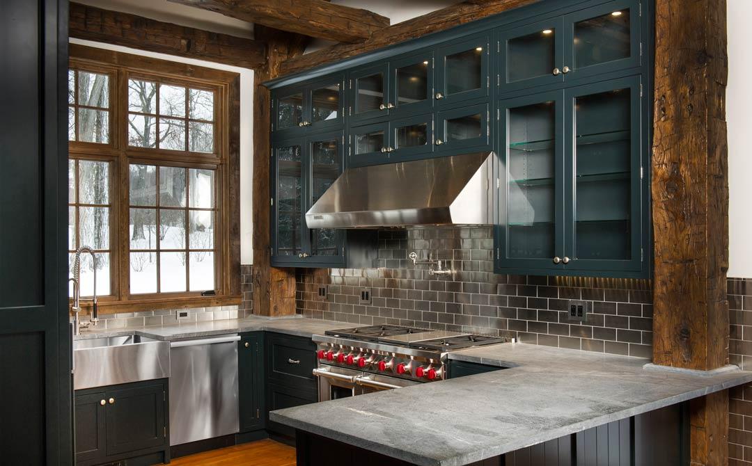 Woodsy Green Kitchen
