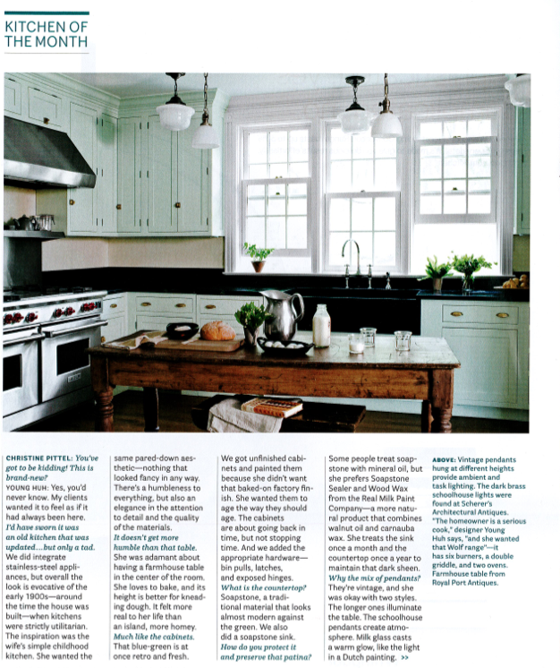 Plain Fancy Kitchen Of The Month In House Beautiful