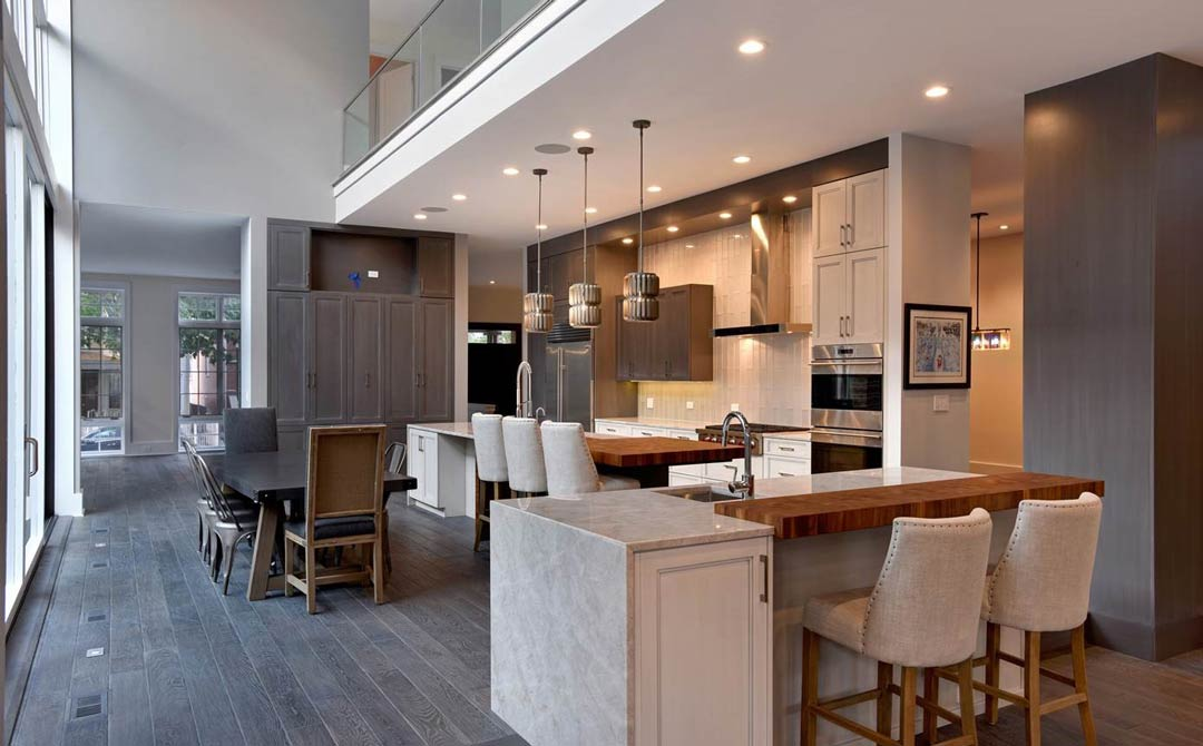 Modern Kitchen with textured finishes