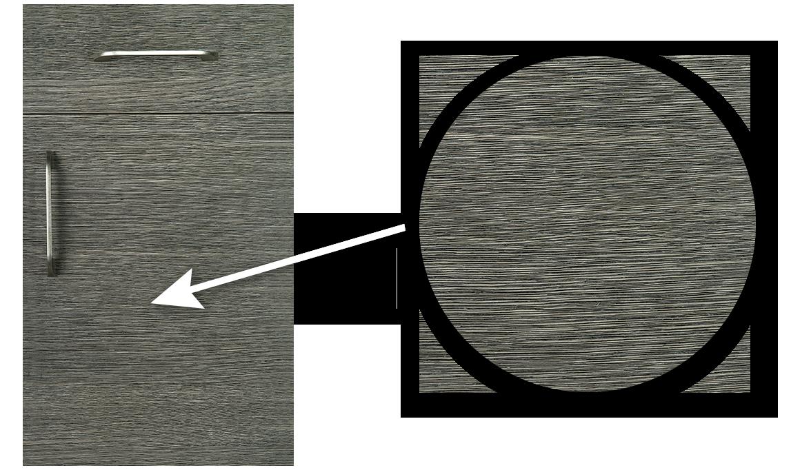 Gray Textured Door with Zoomed In Look