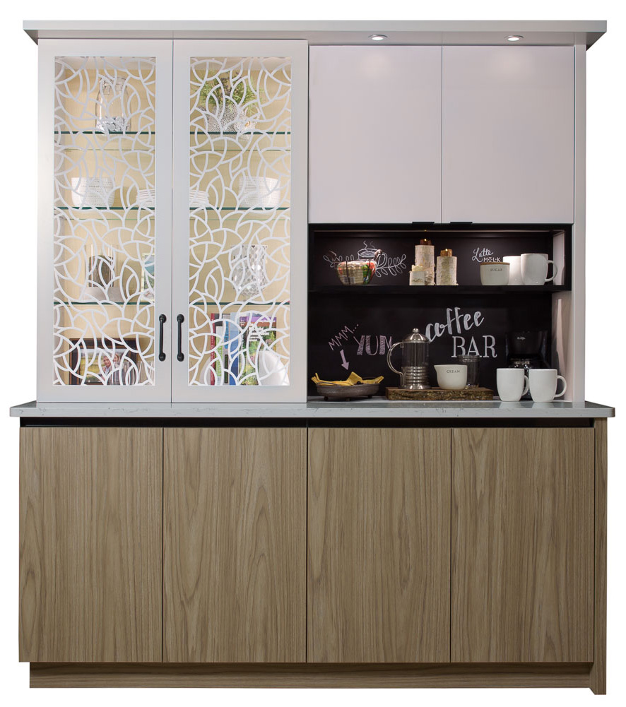 Cabinets for a coffee bar