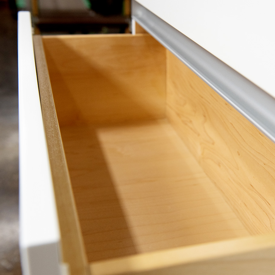 Hidden cabinet pulls