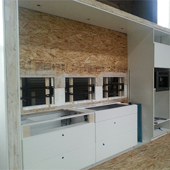 Construction of FutureHAUS kitchen