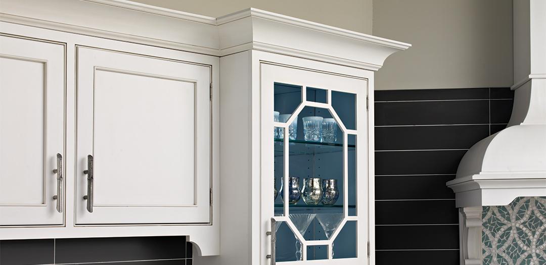 Modern Chinoiserie Kitchen Cabinets