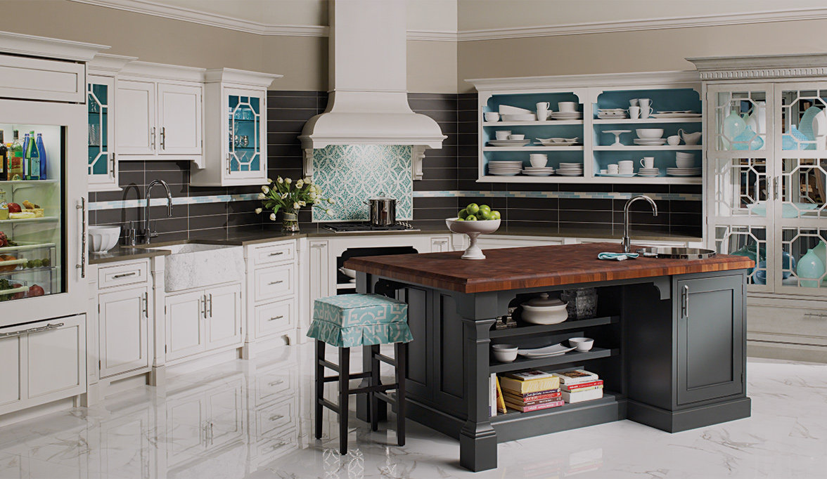 Modern Chinoiserie Kitchen Cabinetku | Plain & Fancy Cabinetry