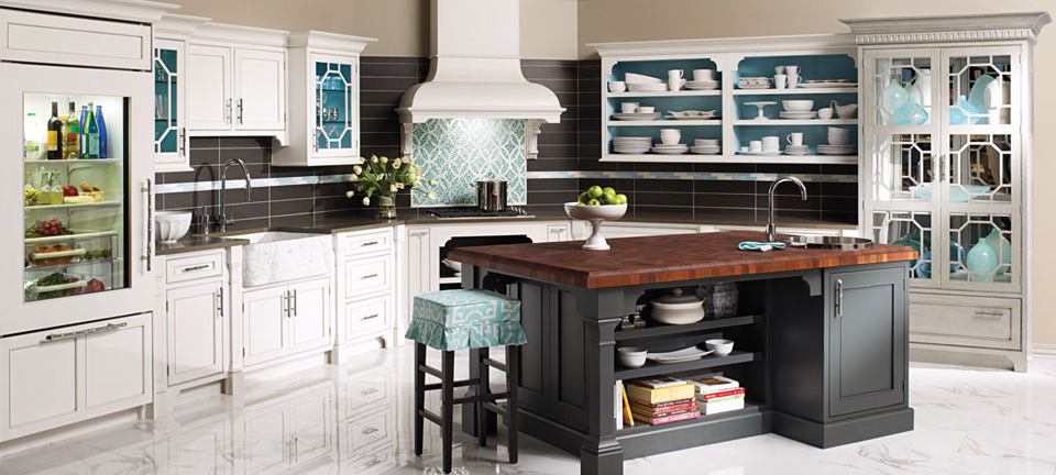 Modern Chinoiserie Kitchen Cabinetr