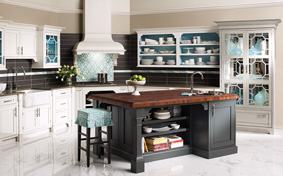 Modern Chinoiserie Kitchen Cabinets