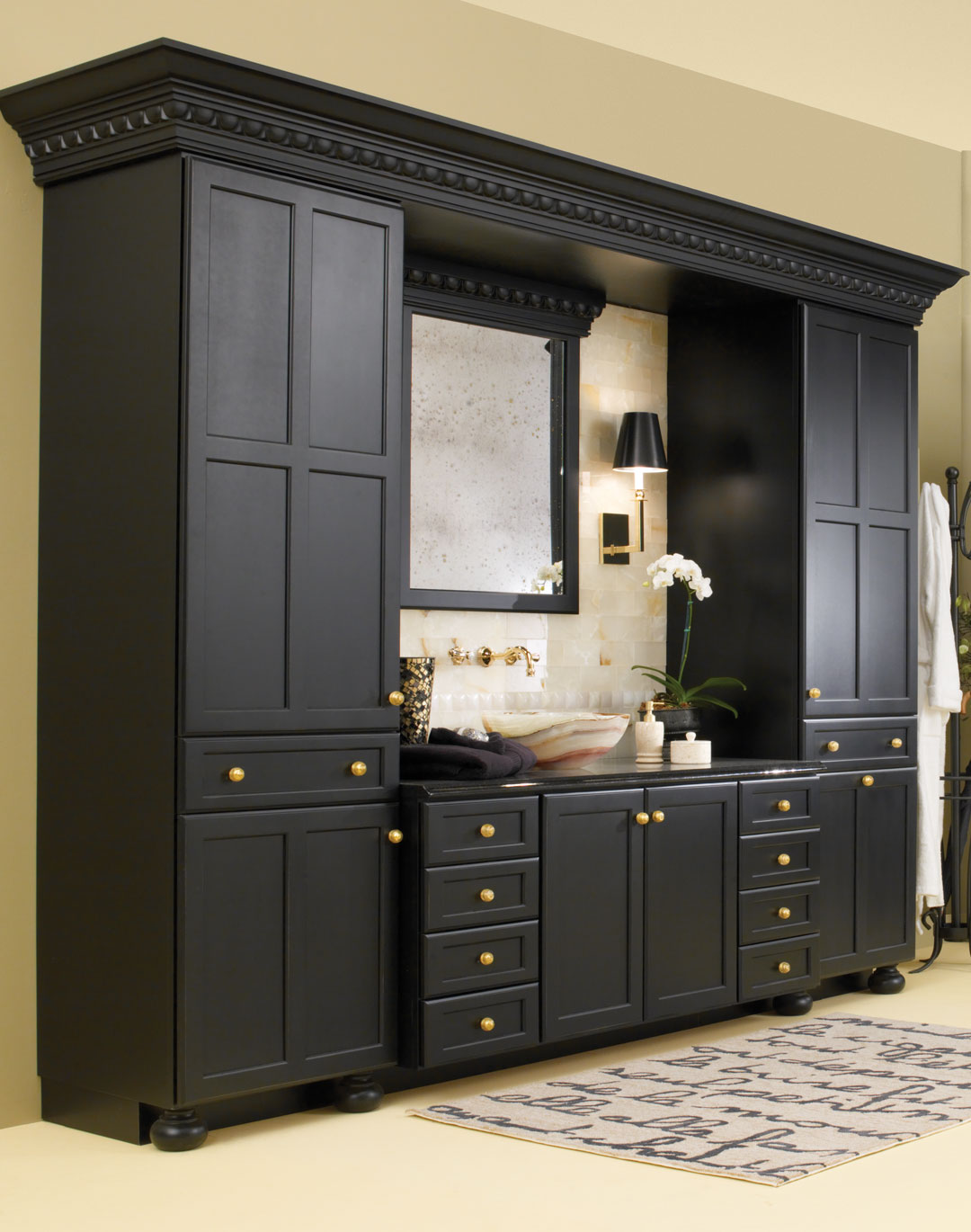 Contemporary Bathroom Cabinets Plain & Fancy Cabinetry