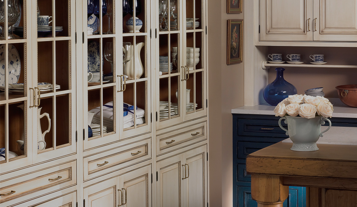 Decorative China Cabinet Custom Cabinetry Project Remodel Photos Details