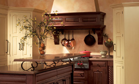 Kitchen Cabinets with Palladian Panache
