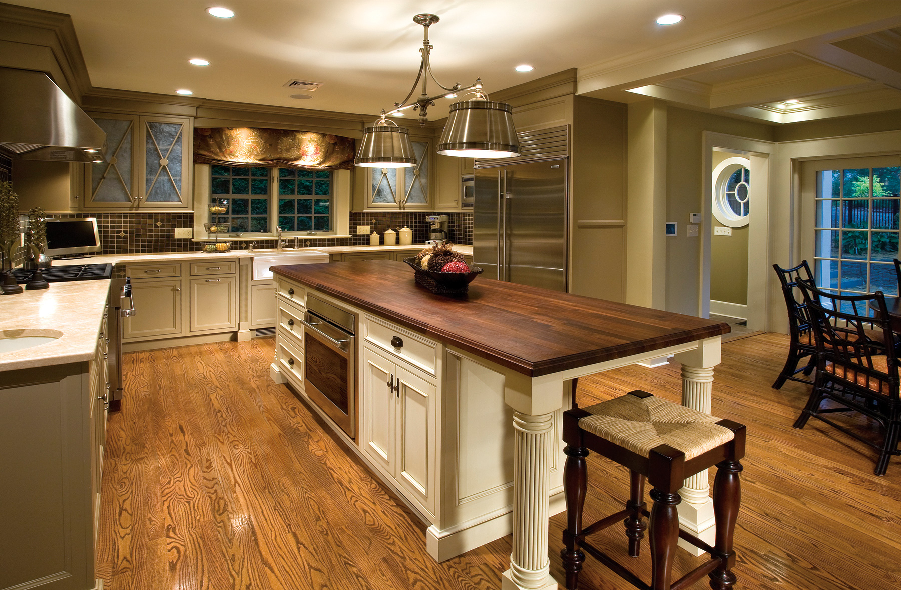 Traditional kitchen with charm and polish plain fancy for Traditional rustic kitchen