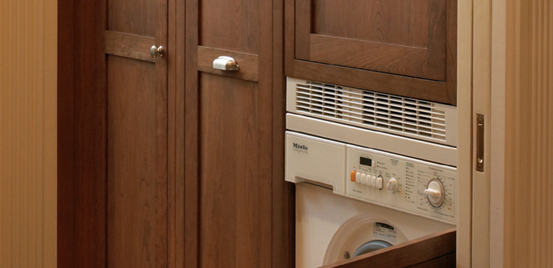Hideaway laundry cabinets