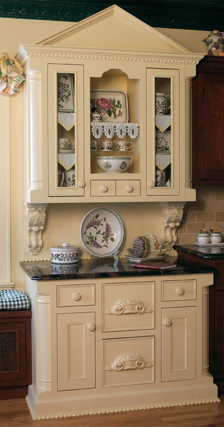 Delicately Ornate Custom Kitchen Cabinets Plain Amp Fancy