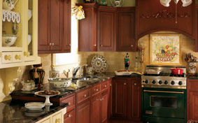 Traditional Kitchen with Delicate Ornate Style