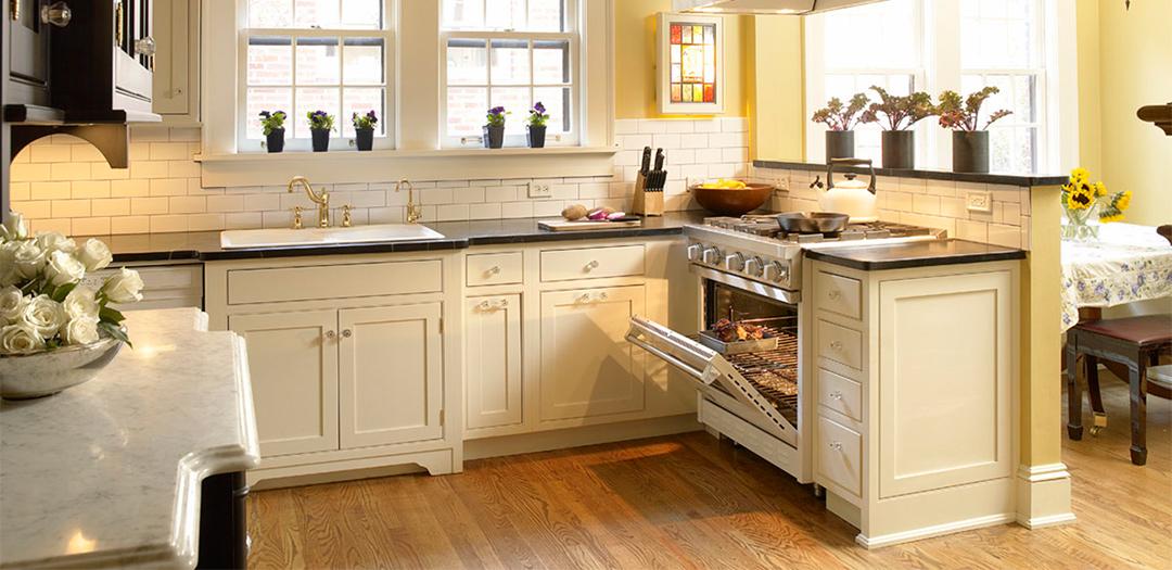 Custom Kitchen Cabinets in Black, White & Chic