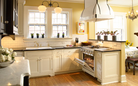 Custom Kitchen Cabinets in Black, White & Chic