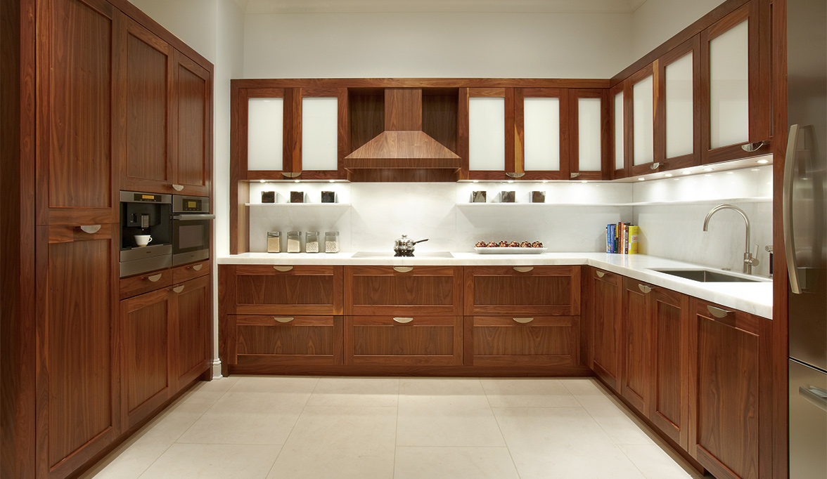 Walnut Kitchen Custom Kitchen Cabinets In Natural Walnut Plain Fancy Cabinetry