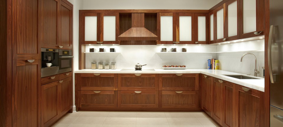 Custom Kitchen Cabinets In Natural Walnut Plain Amp Fancy