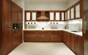 Custom Kitchen Cabinets in Natural Walnut