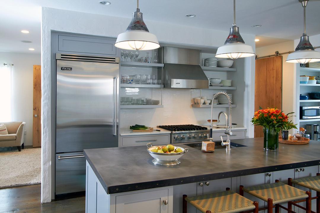 Contemporary Kitchen Designs  Blue Plain & Fancy Cabinetry