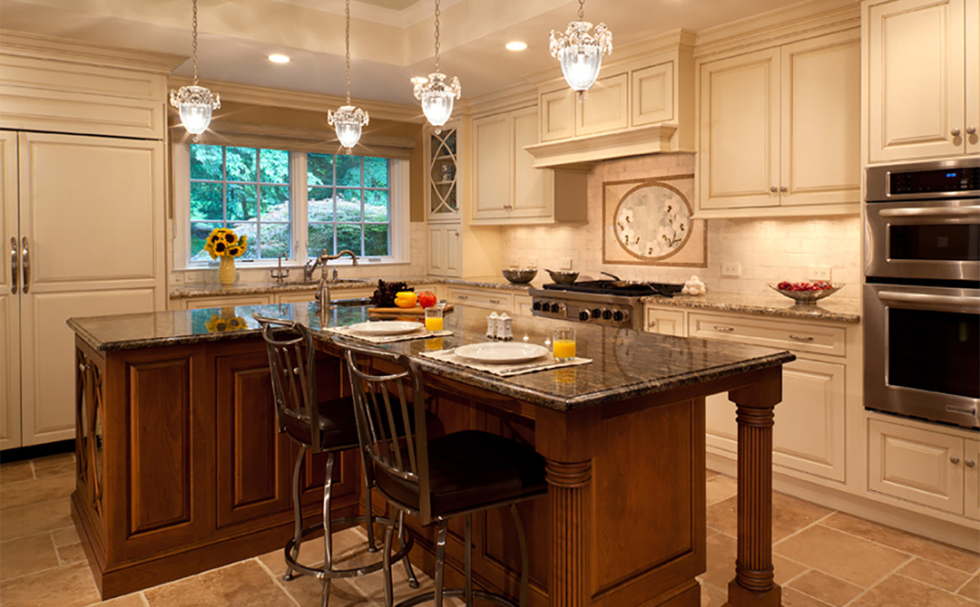 Earthy chic french style kitchen plain fancy cabinetry for Chinese kitchen cabinets nj