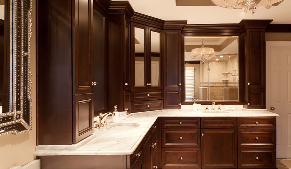 bathroom cabinets with stylish elegance plain fancy cabinetry