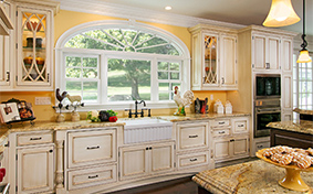 White Beaded Inset Kitchen Cabinets