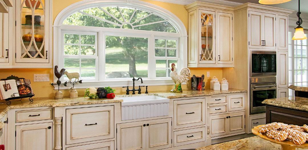 Cottage Kitchen Bathed in Natural Light