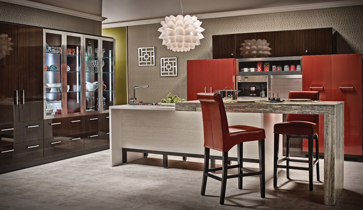 pin sleek contemporary finish posh and cabinets a for kitchen