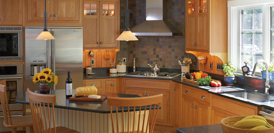 Mood Setting Traditional Cabinets
