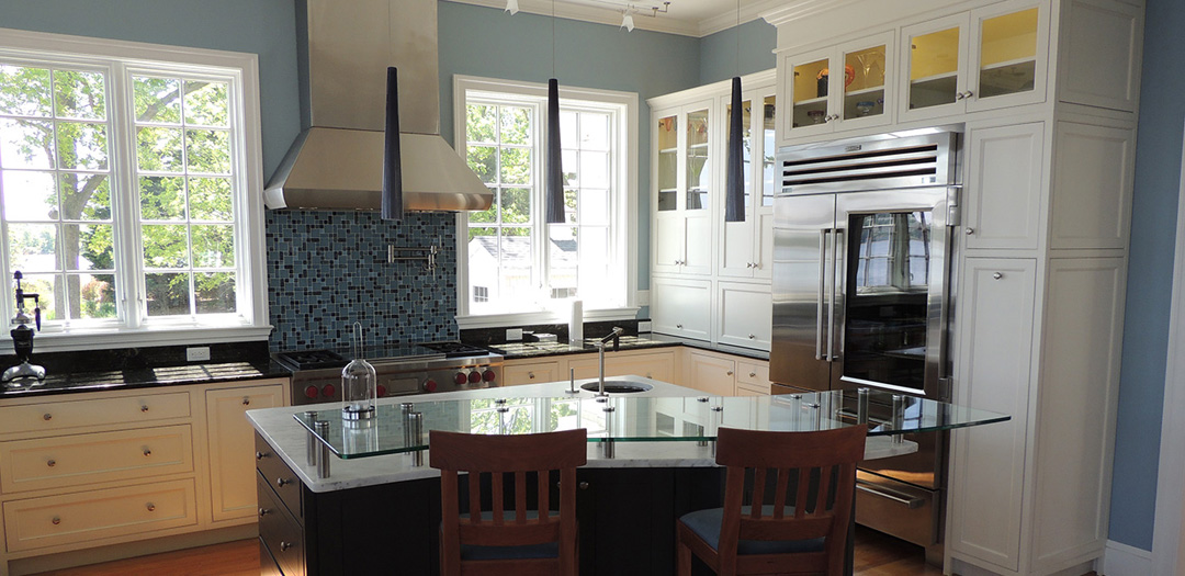 Contemporary Kitchen Cabinets with a Classic Bent