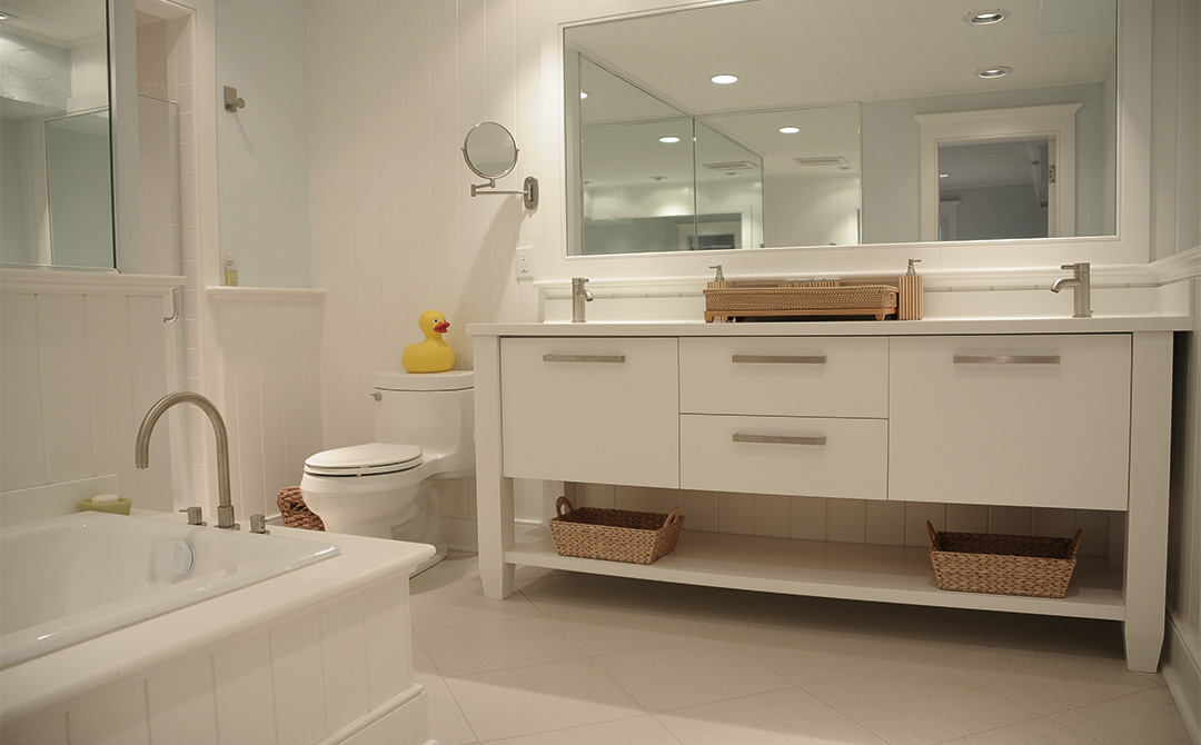 White Bathroom Cabinets Create Clean Lines Plain Amp Fancy