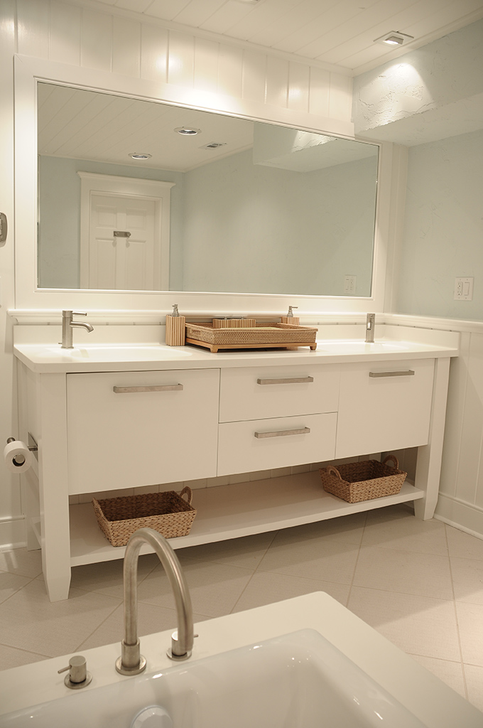 white bathroom cabinets create clean lines plain fancy cabinetry